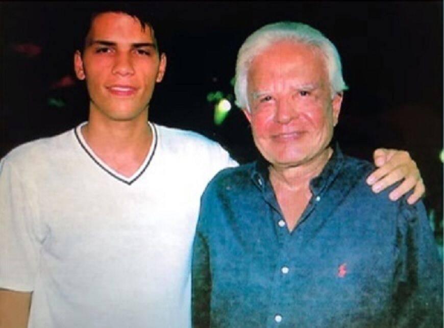 Roger e o pai, Cid (Foto: Divulgação)