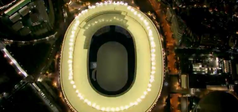 O estádio é contemplativo e um símbolo do século em que vivemos. (Foto: TV Globo)