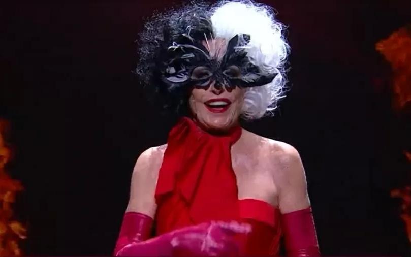 A apresentadora Ana Maria Braga viralizou na web ao se vestir como Cruella no 'Mais Você' (Foto: Globo)
