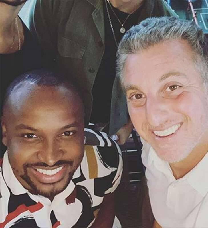 Luciano Huck possui um grupo de amigos chamado Diretoria, e dentre eles com certeza um dos mais próximos do apresentador é Thiaguinho. (Foto: Instagram)
