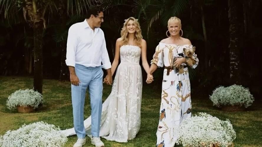 Luciano e Maria das Graças no casamento de Sasha (Foto: Instagram)
