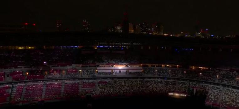 O estádio que aconteceu a abertura dos jogos era na capital da cidade. (Foto: TV Globo)