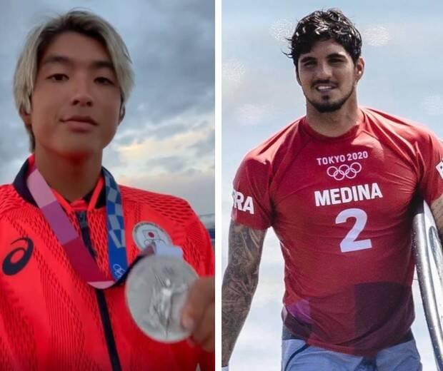 Kanoa Igarashi, o japonês que ganhou de Gabriel Medina nas semifinais do surf na Olímpiada em Tóquio, não gostou nada dos comentários de que sua vitória foi injusta. (Fotos: Divulgação)