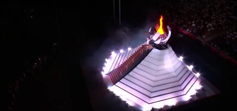 Pira Olímpica acessa. (Foto: TV Globo)