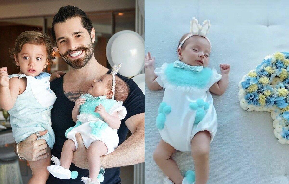 Raika, a caçula de Alok e Romana Novais, veio ao mundo dia 2 de dezembro de 2020. A bebê nasceu prematura após a mãe ter complicações por conta da Covid-19 quando estava na 32ª semana de gestação. (Foto: Instagram)
