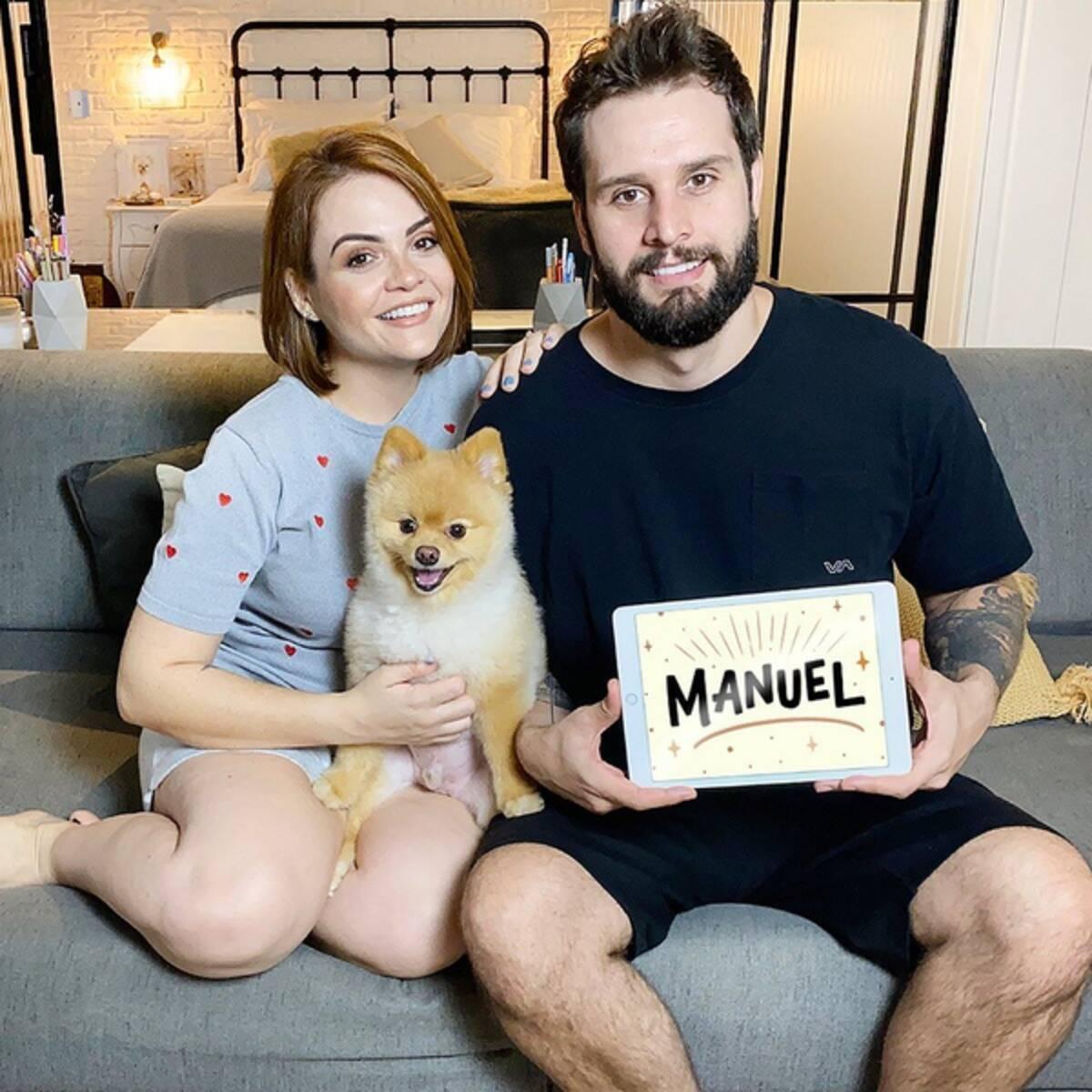 Mamãe de primeira viagem, a youtuber Karol Pinheiro teve seu primeiro filho, Manuel, com Arthur Pezzi em julho de 2020. (Foto: Instagram)