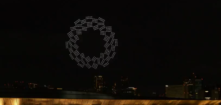A abertura foi marcada por tecnologia. (Foto: TV Globo)