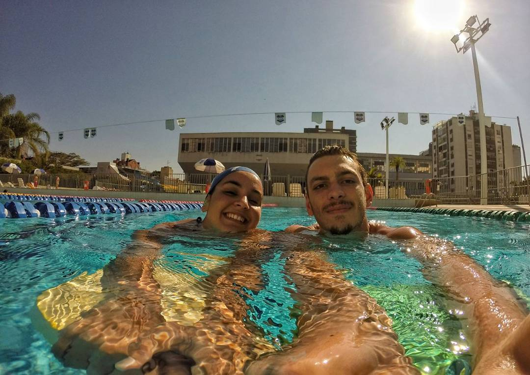 Fernando Scheffer da natação, nos 200 metros livre, recebeu a medalha de bronze (Foto: Instagram)