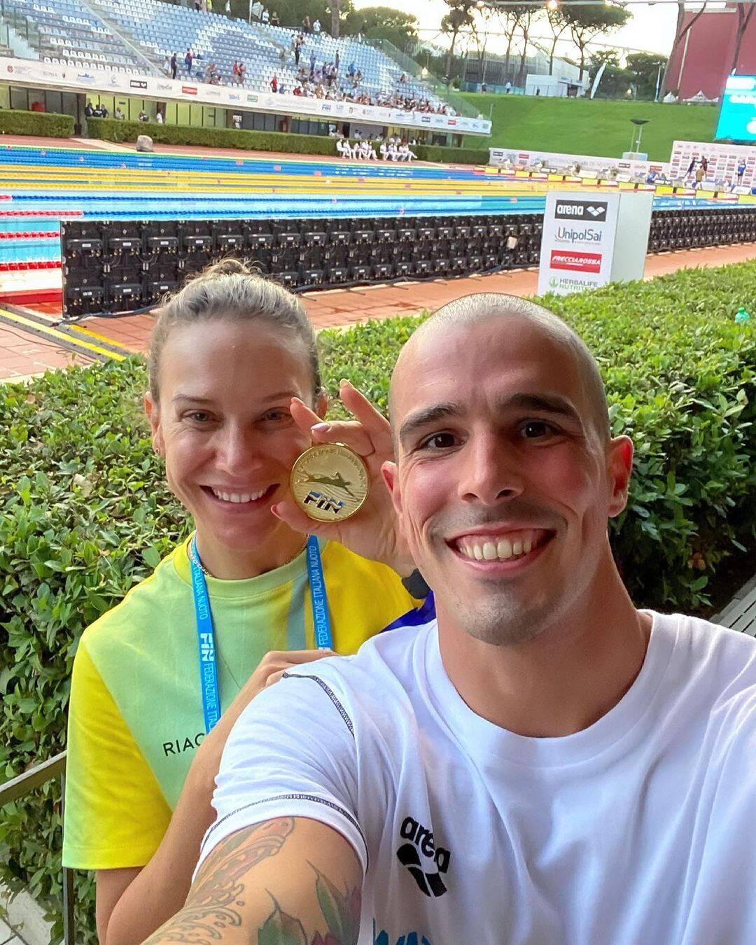 Bruno Fratus, ganhou sua primeira medalha, sendo de bronze, na natação, nos 50 metros livre (Foto: Instagram)
