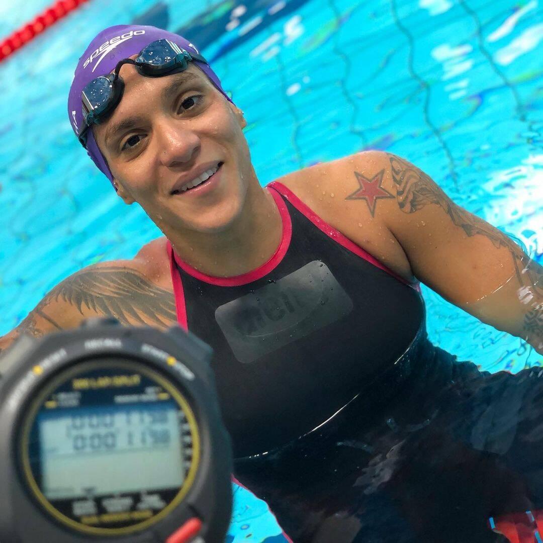Ana Marcela Cunha ganhou ouro na maratona aquática (Foto: Instagram)