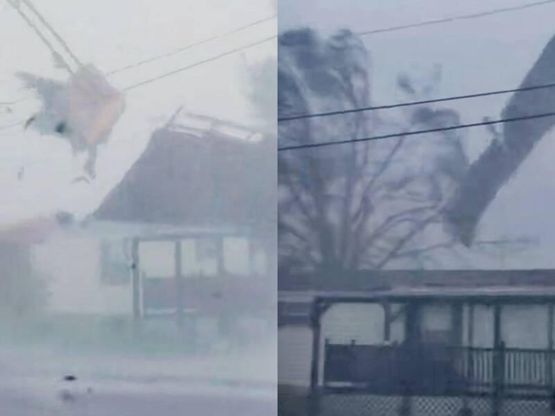 Videos compartilhados por moradores nas redes sociais mostram um verdadeiro cenário de terror. (Foto: Reprodução/Snapchat)