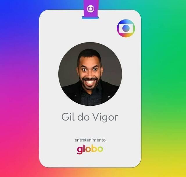 O ex-bbb Gilberto, mais conhecido como Gil do Vigor, não encantou apenas o público, mas também os produtores da Rede Globo. O economista foi contratado para fazer parte do time de entretenimento do canal. (Foto: Instagram)