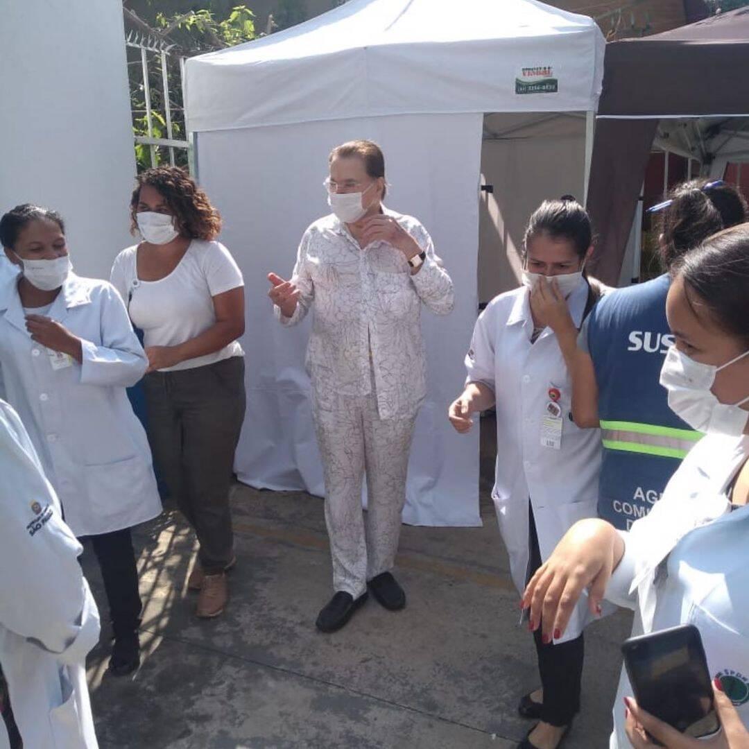 Silvio Santos, de 90 anos, recebeu a 2ª dose da vacina contra a Covid-19 em março deste ano (Foto: Instagram)