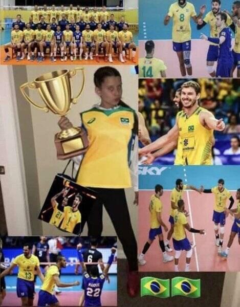 Muitos usuários que acompanham as Olimpíadas afirmam que o Brasil é o país do Vôlei (Foto: Twitter)