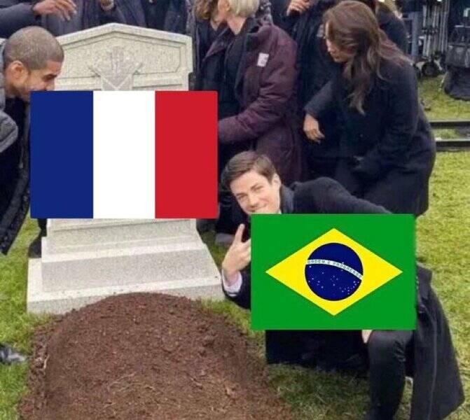 Depois de muita luta, o Brasil venceu a França no vôlei (Foto: Twitter)