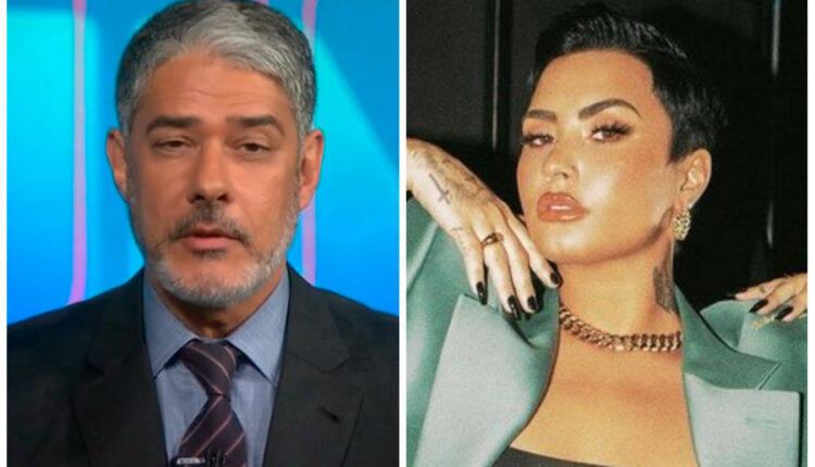 Internautas acusam Jornal Nacional de transfobia ao anunciar Demi Lovato no Rock In Rio de 2022. (Fotos: Divulgação)