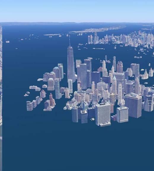 Nova York também terá água invadindo a cidade inteira (Foto: Climate Central)