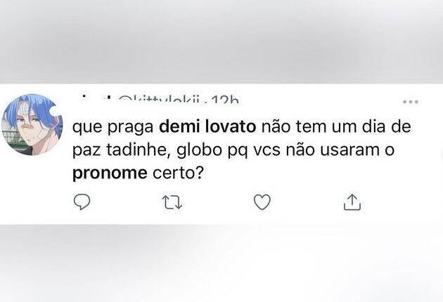 Na Web, fãs de Lovato ficaram irritados com a forma que o JN noticiou o fato. (Foto: Twitter)