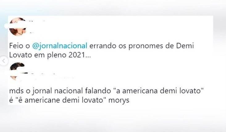 Acontece que, nessa terça-feira (10), ao darem a notícia, noticiaram como - a americana Demi Lovato. Motivo suficiente para muitos internautas ficarem irritados. (Foto: Twitter)