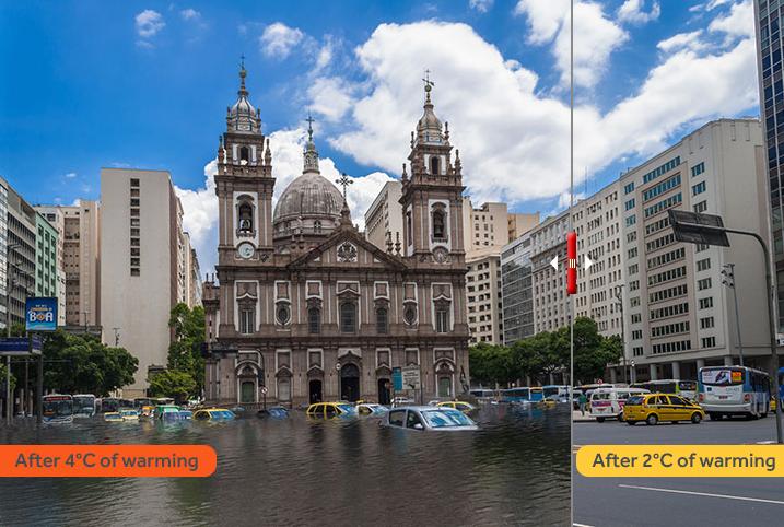 Rio de Janeiro pode ser um dos locais mais afetados do território brasileiro se nada mudar com o aquecimento global (Foto: Climate Central)