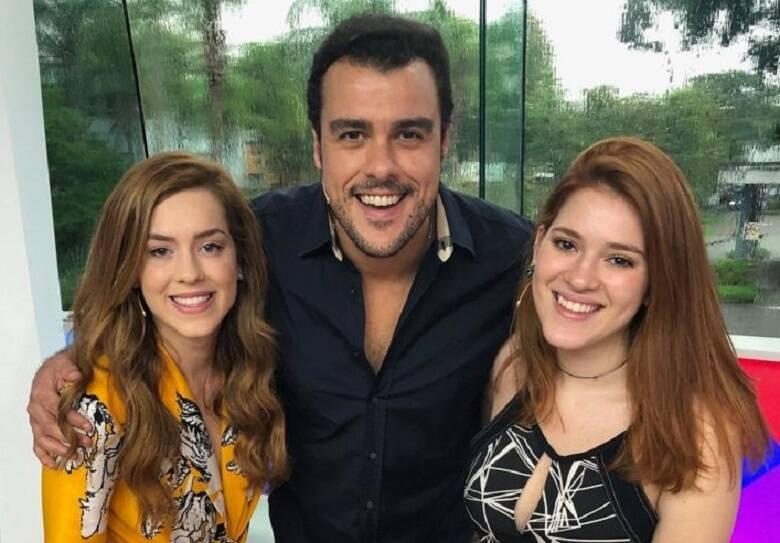Na época, o Vídeo Show era comandado por Sophia Abrahão e Joaquim Lopes (Foto: Globo)