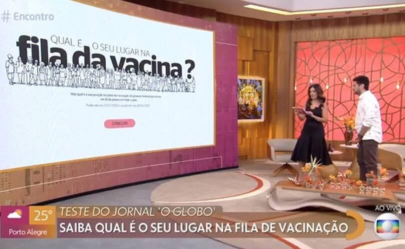 Em sua programação, a emissora busca conscientizar a população sobre as medidas protetivas e a vacinação contra a Covid-19 (Foto: Globo)