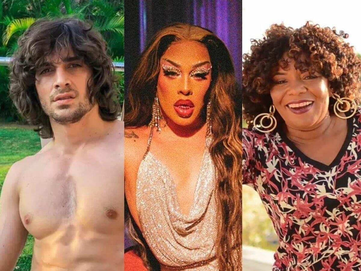 No grupo A, estão: Fiuk, Gloria Groove e Margareth Menezes. (Fotos: Instagram)