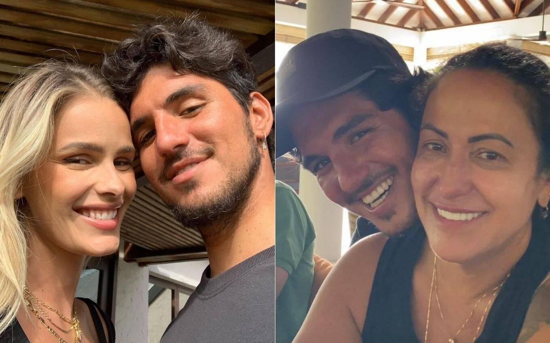 A empresária e o primogênito estão rompidos há meses e um dos motivos foi o casamento do atleta com Yasmin Brunet. (Fotos: Instagram)