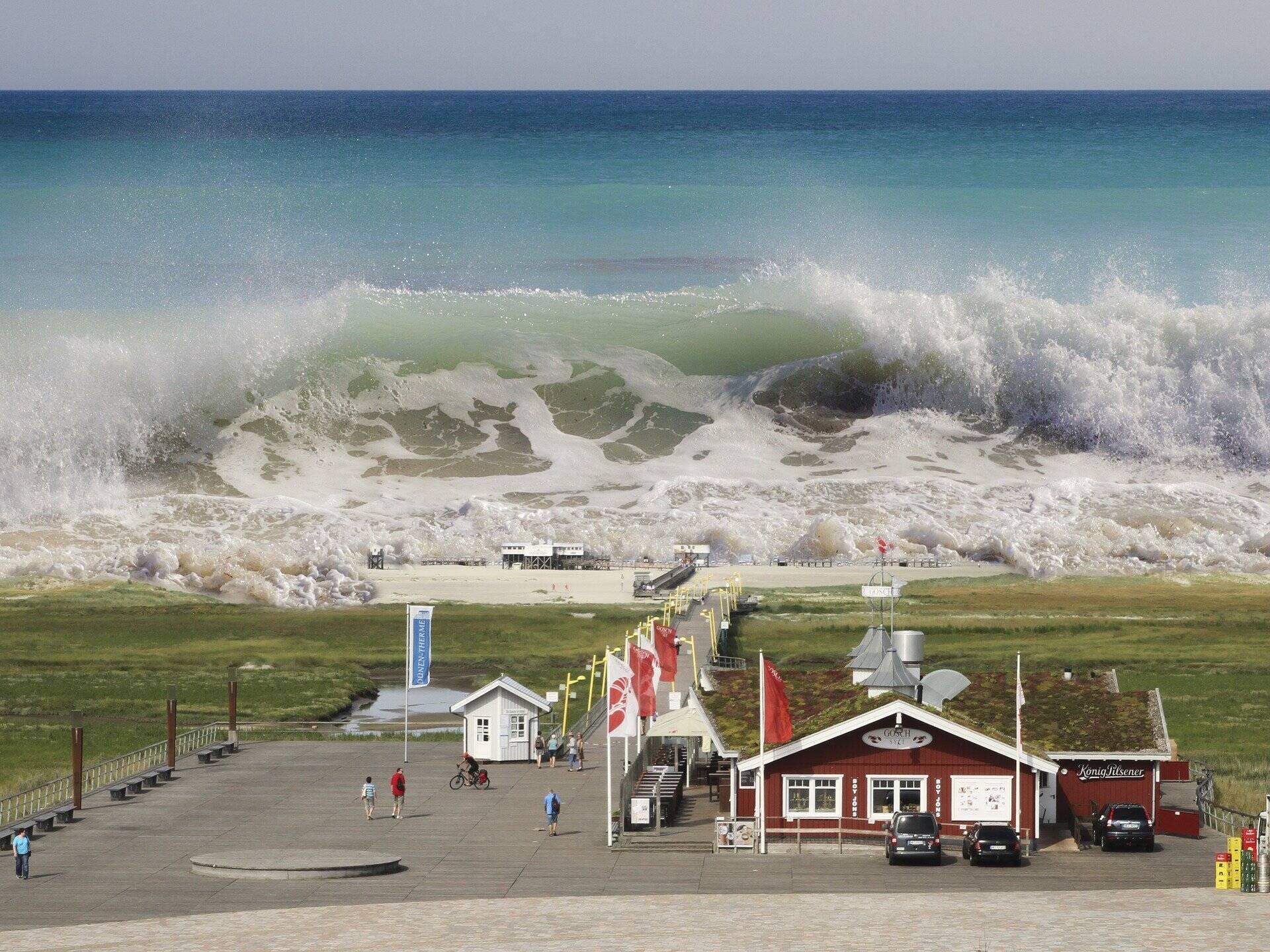 Um tremor de magnitude 9.1 próximo da costa noroeste da ilha de Sumatra, gerou um tsunami com 1300 quilómetros de comprimento e com ondas de 50 metros. (Foto: Pixabay)