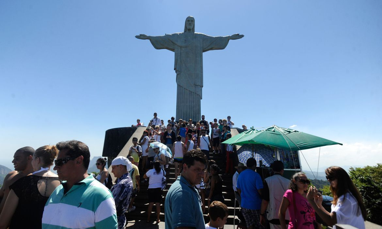 Na América do Sul, a visitação ao Cristo Redentor só perde para a cidade inca de Machu Picchu, encravada na Cordilheira dos Andes, no Peru. (Foto: Thomaz Silva/Agência Brasil)