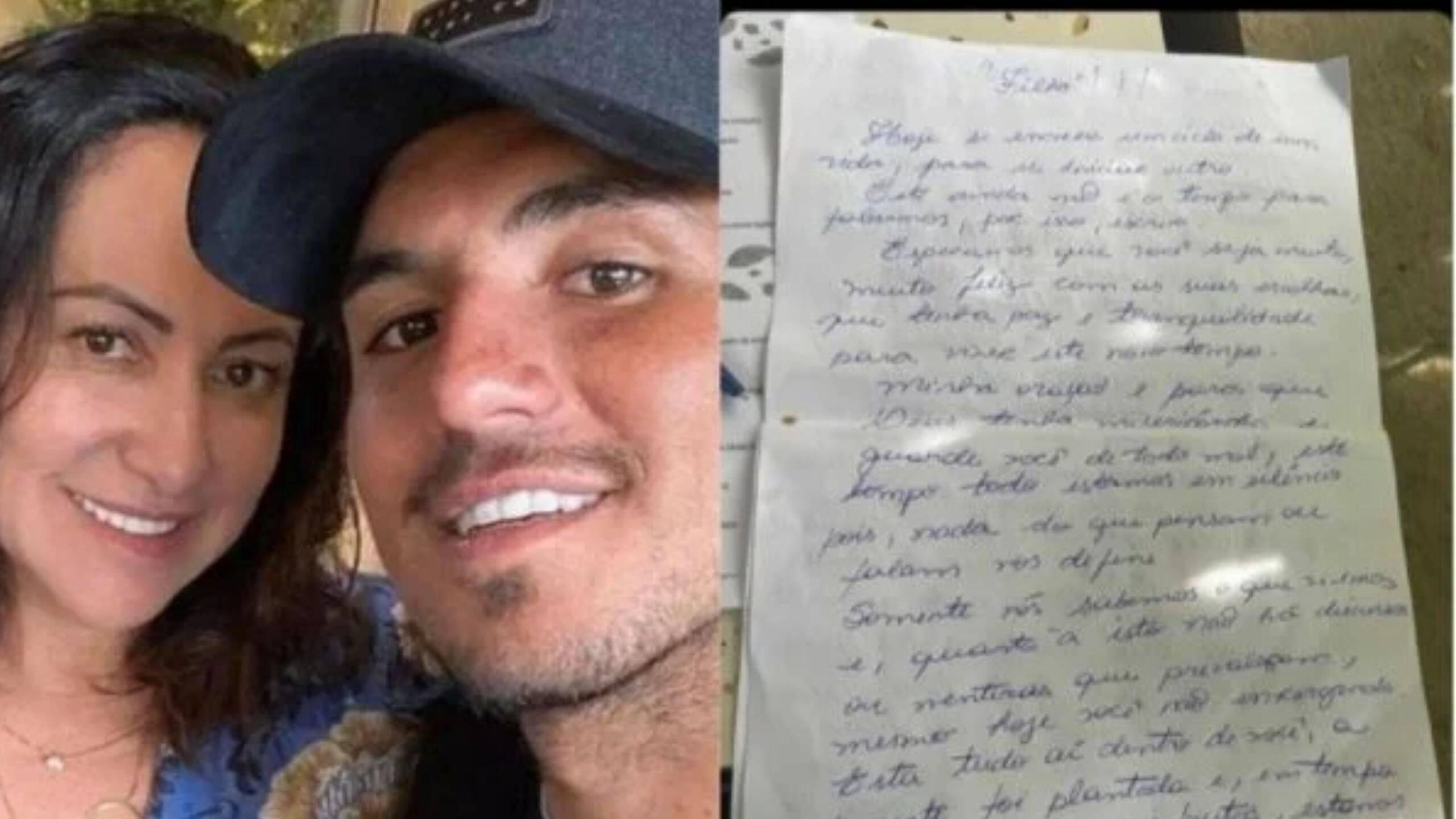 Confira a carta polêmica que Simone Medina mandou para o filho através dos advogados (Foto: Instagram)